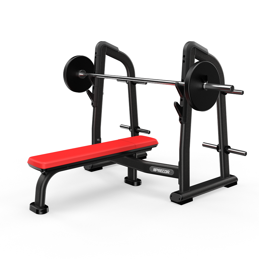 Precor Olympic Flat Bench Black Pearl